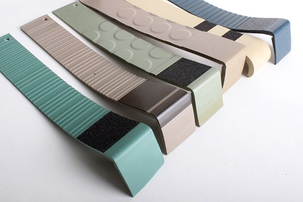 "06 096513 Stairwell Management 3 Floormat.com This is the OEM Johnsonite® replacement Anti-Slip Tape for safer stair treads. Available in 2"" x 60'. This product is available in 11 colors.Looking to match your decor? We have a sample ring preset with all the color options available in the OEM Johnsonite® replacement tread tape. <a href=""https://www.floormat.com/contact-us/"">Contact us</a>, and we'll get a sample ring headed your way."