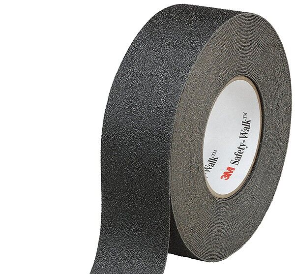 3m tape 600 3 Floormat.com General purpose slip-resistant tapes that prevent <i>Slip & Fall</i> Accidents <ul> <li>For light to heavy shoe-traffic areas</li> <li>Mineral-coated, high traction, slip-resistant surface</li> <li>Pressure-sensitive adhesive, covered by removable protective liner, is easy to apply </li> <li>Applications: Flat surfaces, stairs, ramps, entrances, lawn equipment, ladders, snowmobiles, scooters, construction machinery and vehicles</li> </ul> <strong>Floormat.com offers these anti-slip materials in die-cut shapes. No job is too small!</strong>