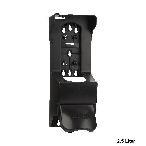 499701 1 Floormat.com A durable and easy to mount wall dispenser with all the necessary mounting hardware. <ul> <li>Installs in minutes on any wall surface with 2-way tape and screws</li> <li>Made of tough plastic</li> <li>Extra large pump handle makes it easy to use when hands are dirty</li> </ul>