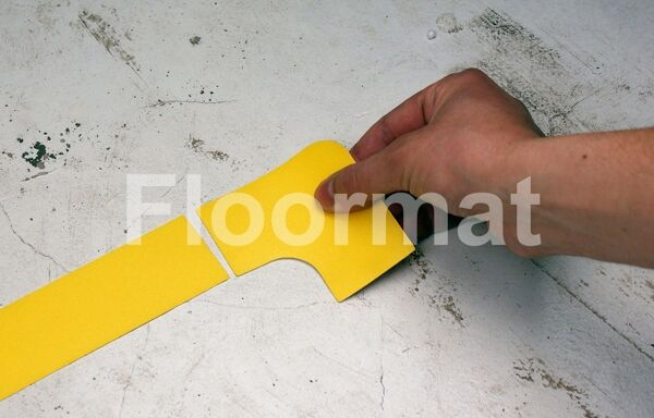 90 degree 2 Floormat.com Floormat.com warehouse markers are durable, self-adhesive signs constructed from industrial grade plastic. Intended for use in factory warehouses and buildings where restrictions and safety notifications need to be highlighted.