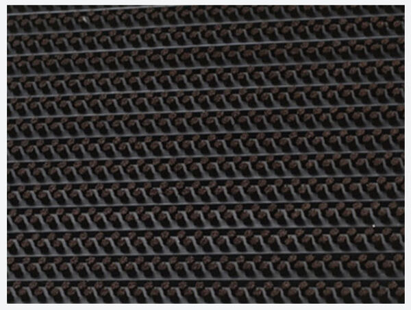 Bristle 2 Floormat.com Features extremely durable, hard-wearing nylon bristles that clean footwear with each step. <ul> <li>Resistant to all weather and extreme conditions.</li> <li>Drop through construction hides collected dirt from view. Rolls up for easy handling and maintenance. </li> <li>Anodized aluminum and vinyl with nylon brush inserts.</li> </ul>