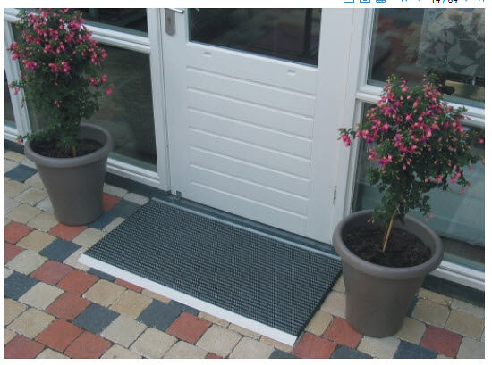 Bristle 4 Floormat.com Features extremely durable, hard-wearing nylon bristles that clean footwear with each step. <ul> <li>Resistant to all weather and extreme conditions.</li> <li>Drop through construction hides collected dirt from view. Rolls up for easy handling and maintenance. </li> <li>Anodized aluminum and vinyl with nylon brush inserts.</li> </ul>