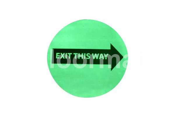 Exit this sign 17 Floormat.com Floormat.com warehouse signs are durable, self-adhesive signs constructed from industrial grade plastic. Intended for use in factory warehouses and buildings where restrictions and safety notifications need to be highlighted.