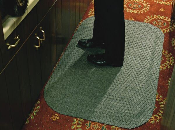 Hog Heaven Fashion 2 Floormat.com Ideal uses include concierge desk, bellman stands, copier station, registration desk, pharmacies and labs. <ul> <li>Ideal uses include concierge desk, bellman stands, copier station, registration desk, pharmacies and labs</li> <li>Closed-cell Nitrile rubber cushion backing keeps standing workers comfortable all day long</li> <li>Beveled border remains flexible for the life of the product and will not crack or curl</li> </ul>