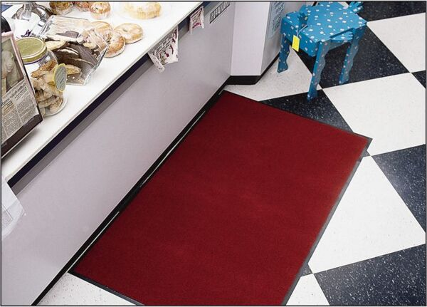 "Impressionist 3 Floormat.com This indoor wiper mat is 3/8"" thick and a continuous filament olefin yarn that is colorfast and resists stains. Product is not launderable. <ul> <li>Smooth non-skid vinyl backing</li> <li>Designed to release dirt easily with daily vacuuming, or can be cleaned with any commercial carpet cleaning system</li> <li>Recommended for commercial buildings, hotels, restaurants, healthcare facilities, office buildings and more</li> </ul>"