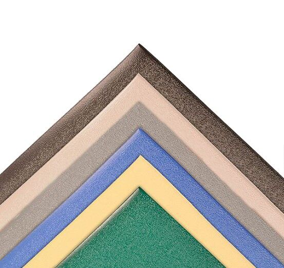 Kitchen Comfort 1 1 Floormat.com The Accent Mat provides anti-fatigue support while working in the kitchen or any area in the home. Beveled edges provide safety from tripping. Easy to sweep or wipe clean 100% PVC vinyl construction. On Sale for $17.99 in checkout. <ul> <li>Adds a splash of color and can be matched with other home textiles by using one of the stock colors or creating a custom color.</li> <li>Stays in place</li> <li>Beveled edges provide safety from tripping</li> <li>Overall Thickness: 3/8 inch</li> </ul> Accent mats provide ergonomic support while working in any area of the home. Cushioning PVC Sponge construction relieves leg and back discomfort, common when standing for long periods of time.