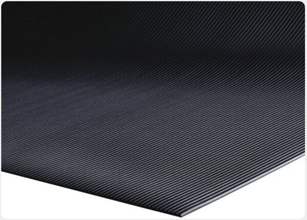 "Sure Tread V Groove 1 Floormat.com This indoor mat features a chemical resistant, 1/8"" thick solid vinyl composition. This mat provides protection for all types of floors from abuse due to chairs, tables and foot traffic surface. <ul> <li>Provides protection for all types of floors from abuse due to chairs, tables and foot traffic</li> <li>Great for walkways, inclines and ramps</li> <li>Can be rolled for easy storage</li> </ul>"