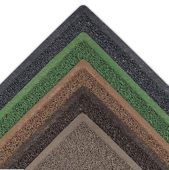 Wayfarer Custom 1 Floormat.com Wayfarer® Custom is specially designed to dry quickly and resist mildew, and the heavy-duty construction makes it the perfect mat for outdoor entrances, drinking fountains, pool areas, and recessed wells in foyers. <ul> <li>Heavy-duty vinyl-looped construction traps dirt and moisture while scraping debris</li> <li>Open un-backed design allows moisture and dirt to pass through the mat</li> <li>Factory compressed borders</li> <li>Designed to dry quickly and resist mildew</li> </ul> Wayfarer™ Custom is an unbacked vinyl-loop outdoor mat that removes dirt and moisture from shoes allowing it to pass through the mat.