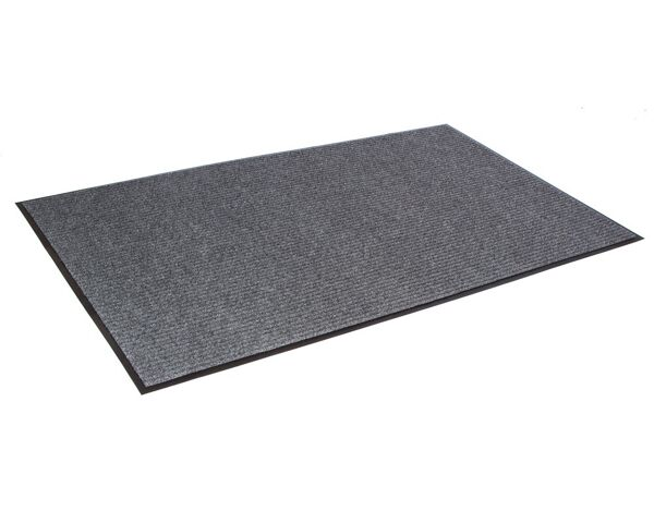 """c needle rib 2 Floormat.com Wiper/scraper ribbed-pattern mats for light traffic <ul> <li>Unilateral ribbed pattern on vinyl backing that traps moisture and protects floors</li> <li>Quick drying and fade resistant</li> <li>Retains moisture for increased cleaning efficiency</li> <li>For interior areas with light traffic e.g. Small business, Boutique and Side entrance</li> </ul> <h2>Needle-Rib™ Indoor Entrance Mats</h2> These economical, ribbed-pattern wiper/scraper carpet mats are recommended for interior entrances with light traffic of less than 125 people per day, such as small businesses, boutiques, and side entrances.<strong>Benefits:</strong> <ul> <li>Rugged grooves work vigorously to remove dirt and moisture</li> <li>Wear-resistant and colorfast to stay looking new longer</li> <li>Six brilliant colors to choose from</li> <li>Thickness: 5/16""""</li> <li>Backing: vinyl</li> <li>Top fibers: polypropylene</li> </ul>"""