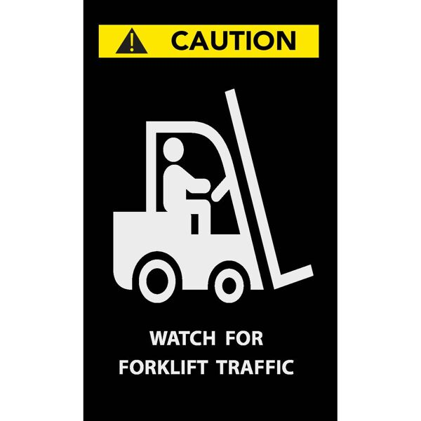 caution forklift Floormat.com Safety Message mats make your safety message loud and clear while keeping facilities cleaner and safer. Pre-printed message mats warn employees who may be entering a hazardous area, may need special ear or eye protection, or just act as a reminder to think and act safely in work environments. Pre-printed message mats offer functionality as an entrance mat cleaning dirt and moisture from shoes, keeping facilities cleaner and safer. Select messages are also available in Spanish. <ul> <li>14 pre-printed messages to choose from</li> <li>Highly visible colors and graphics for immediate identification</li> <li>24 ounce nylon top surface provides excellent moisture absorption and retention</li> <li>Heavy duty vinyl backing reduces mat movement</li> <li>Select messages also available in Spanish</li> </ul>