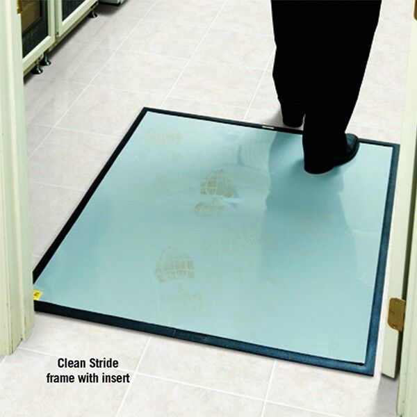 clean stride dirt removal mat frames Floormat.com With two footsteps on Clean Stride adhesive insert, over 90% of dirt particles are removed
