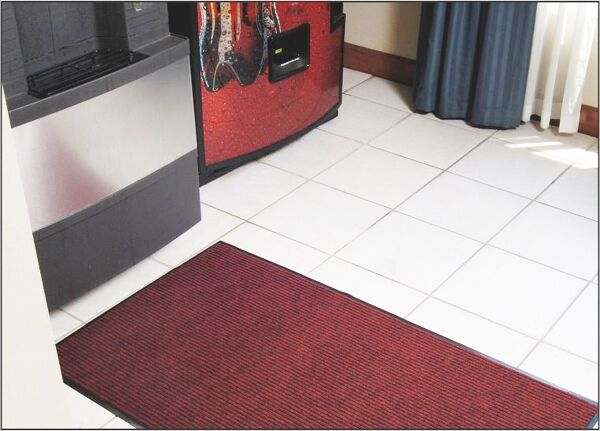 cobblestone 2 Floormat.com Sturdy ribbed design scrapes and traps soil within the recessed grooves. Durable polypropylene face is effective against dust and lighter weight soil. <ul> <li>Easily cleaned by vacuum, hose or pressure washer</li> <li>Recommended for commercial buildings, hotels, restaurants, healthcare facilities, office building and more</li> <li>Not launderable</li> <li>Durable polypropylene face is effective against dust and lighter weight soil</li> </ul>