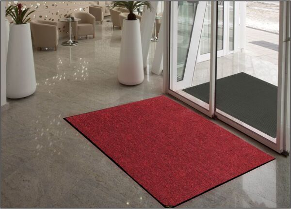 colorStar plush 3 Floormat.com Double thick Nitrile rubber backing keeps mat stable, even with cart traffic.