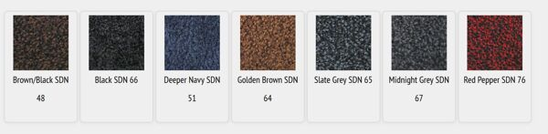 colorstar plush colors Floormat.com Double thick Nitrile rubber backing keeps mat stable, even with cart traffic.