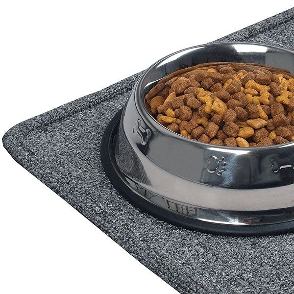doogie butler 3 Floormat.com The Doggie Butler serves as the perfect mealtime tray for man's best friend. Great for use under bowls or stands, the absorbent carpet surface sucks up water from spills from your pooch. A smooth top design makes for an easy clean up with no textured areas for food to get caught. The Doggie Butler has a raised lip that keeps bowls securely on the mat, and prevents stray food and water from leaking onto the floor. A rubber backing keeps the mat steady and in place. Doggie Butler is available in a variety of stylish colors. <ul> <li>Absorbent carpet surface sucks up water from spills</li> <li>Smooth design top surface for easy clean up</li> <li>Rubber backing prevents mat from moving</li> <li>Overall Thickness: 1/2 inch perimeter height, 3/8 inch top surface</li> <li>Available Colors: Slate Blue, Burgundy, Brown, Hunter Green, Charcoal</li> </ul>