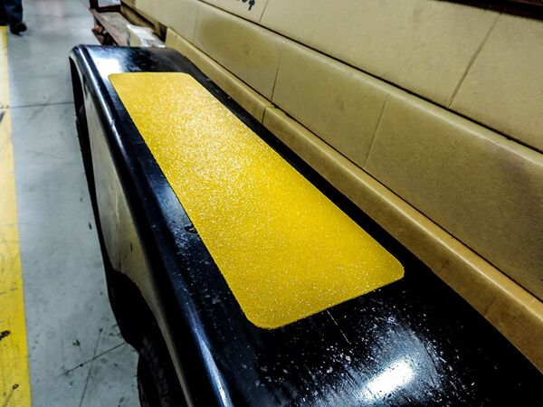 floormat extreme step tread 3 2 Floormat.com Made with a proprietary formula, Floormat.com's Extreme tapes & treads are specifically designed to out-perform standard anti-slip tapes. Multi-climate durable design is ideal for demanding applications where safety is a must. <ul> <li>Offshore marine applications, oil and gas rigs, heavy traffic areas, work areas loading docks, stairways, ramps, walkways, bleachers, and heavy equipment.</li> <li>Extreme Tapes & Treads are Floormat.com's strongest anti-slip products. From offshore construction and marine applications to the the transportation industry, this product is specially designed pressure sensitive adhesive material is capable of preventing slips, trips, and falls in the roughest environments.</li> </ul>
