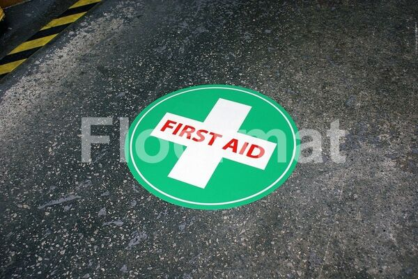 fm07 first aid sign day Floormat.com Floormat.com warehouse signs are durable, self-adhesive signs constructed from industrial grade plastic. Intended for use in factory warehouses and buildings where restrictions and safety notifications need to be highlighted.