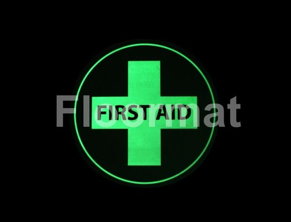 fm07 first aid sign night Floormat.com Floormat.com warehouse signs are durable, self-adhesive signs constructed from industrial grade plastic. Intended for use in factory warehouses and buildings where restrictions and safety notifications need to be highlighted.