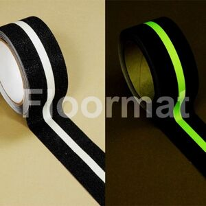 glow line safety grip tape Floormat.com Floormat.com's Glow in the Dark Safety Grip Tape is a self-adhesive plastic based photoluminescent grit tape. Ideal for use highlighting critical areas and especially those prone to power failure.