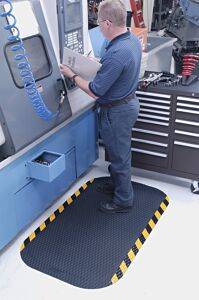 "hog heaven 4 Floormat.com Closed cell Nitrile rubber cushion backing provides long lasting comfort without breaking down. Available in 5/8"" and 7/8"" thickness. <ul> <li>Beveled edges and curved corners create a safer transition from mat to floor</li> <li>Welding safe</li> <li>Ideal for industrial, commercial, retail, hospitality, and health care applications</li> </ul>"