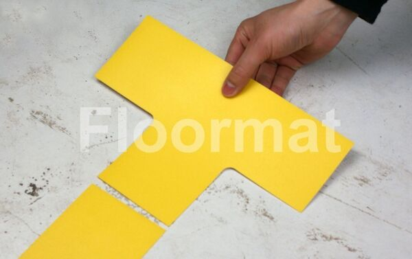 junction  100 1 Floormat.com Floormat.com warehouse markers are durable, self-adhesive signs constructed from industrial grade plastic. Intended for use in factory warehouses and buildings where restrictions and safety notifications need to be highlighted.