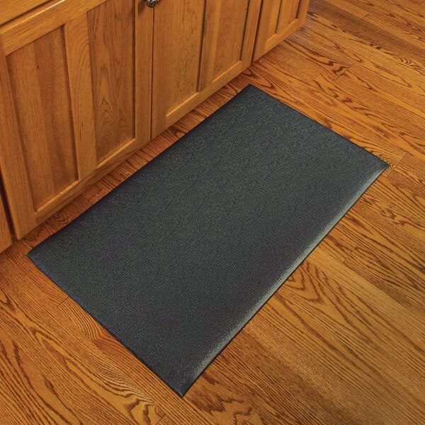 kitchen comfort 5 2 Floormat.com The Accent Mat provides anti-fatigue support while working in the kitchen or any area in the home. Beveled edges provide safety from tripping. Easy to sweep or wipe clean 100% PVC vinyl construction. On Sale for $17.99 in checkout. <ul> <li>Adds a splash of color and can be matched with other home textiles by using one of the stock colors or creating a custom color.</li> <li>Stays in place</li> <li>Beveled edges provide safety from tripping</li> <li>Overall Thickness: 3/8 inch</li> </ul> Accent mats provide ergonomic support while working in any area of the home. Cushioning PVC Sponge construction relieves leg and back discomfort, common when standing for long periods of time.