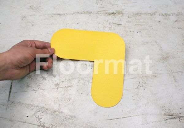 l shape Floormat.com Floormat.com warehouse markers are durable, self-adhesive signs constructed from industrial grade plastic. Intended for use in factory warehouses and buildings where restrictions and safety notifications need to be highlighted.
