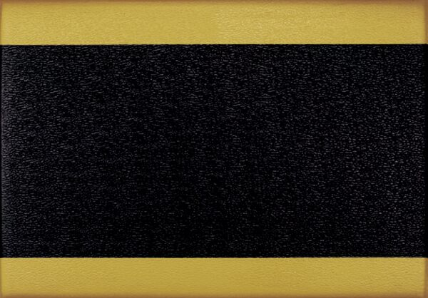 "scyellow boarder rgb Floormat.com <div id=""content_description"" class=""ty-wysiwyg-content content-description""> <div>Sure Cushion floor mats insulate against the cold and reduces noise levels. This 2 foot x 3 foot anti fatigue mat is constructed of ribbed, 3/8 inch PVC foam which is resistant to most chemicals and easy to clean. Sure Cushion floor mats provides floor protection and fatigue safety at an affordable cost.This cushion mat is black with a yellow border on both sides.</div> </div>"