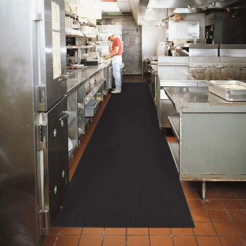 "sure tread v groove 3 Floormat.com This indoor mat features a chemical resistant, 1/8"" thick solid vinyl composition. This mat provides protection for all types of floors from abuse due to chairs, tables and foot traffic surface. <ul> <li>Provides protection for all types of floors from abuse due to chairs, tables and foot traffic</li> <li>Great for walkways, inclines and ramps</li> <li>Can be rolled for easy storage</li> </ul>"