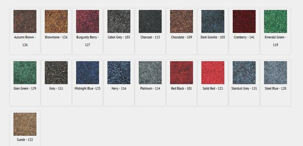 tri grip colors Floormat.com Tufted nylon-on-rubber mats for high-traffic areas