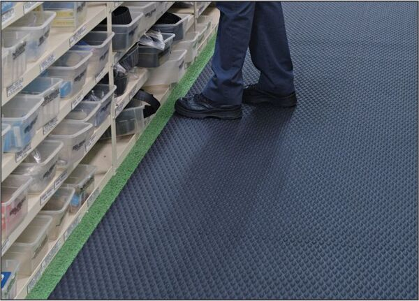 """ttreadparts2hr 1 Floormat.com Slip-resistant floor protection matting made from chemical resistant Nitrile rubber. Ideal for kitchens and any area where slipping conditions exist. <ul> <li>1/8"""" thick, 20% post-consumer recycled  rubber content.</li> <li>UV protected, grease/oil proof.</li> <li>Welding safe and electrically conductive</li> </ul>"""