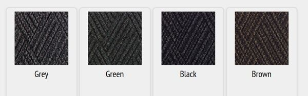 waterhog diamondcord colors 1 Floormat.com Interior scraper-wiper entrance mats for medium traffic areas