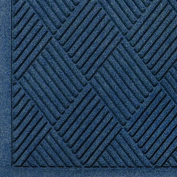 """waterhog fashion diamond 4 Floormat.com Fashionable Wiper - Scraper Mat with Fabric Border. <ul> <li>24 oz.sq/yd Polypropylene fiber system dries quickly and won't fade or rot</li> <li>SBRrubber backing contains 20% recycled rubber content</li> <li>Unique """"Water Dam"""" and ridged construction effectively holds dirt & moisture between cleaning</li> </ul> <h2>Waterhog™ Fashion Diamond Mats</h2> Like Waterhog Classic Diamond, Waterhog Fashion Diamond mats offer the same performance features but with the added beauty of a fabric border for an attractive look that is easy to maintain. This tough as nails mat is the perfect choice for more decorative indoor areas where you want to put your best foot forward.<img class=""""alignright size-full wp-image-14972"""" src=""""https://www.floormat.com/wp-content/uploads/fashion-diamond-cross-section.gif"""" alt="""""""" width=""""300"""" height=""""114"""" /> <ul> <li>Unique ridged construction effectively traps dirt and moisture beneath shoe level.</li> <li>Exclusive rubber-reinforced face nubs prevent pile from crushing in high traffic areas, maintaining high performance and extending product life.</li> <li>Premium 24 ounce anti-static, 100% polypropylene fiber system dries quickly and won't fade or rot. When wet, the rubber-reinforced surface allows water to be wicked to the bottom of the mat, away from foot traffic and providing a slip resistant surface.</li> <li>Green friendly rubber backing has 10% - 15% recycled rubber content and is available in smooth or cleated backing types.</li> <li>Exclusive """"water dam"""" border keeps dirt and water in the mat and off the floor, minimizing slip hazards and floor damage.</li> <li>Highly durable attractive fashion border makes it the perfect choice for indoor or outdoor applications.</li> <li>Anti-static fiber system has a maximum average voltage of 1.6K as measured by the AATCC. Mats are safe for computer rooms and around electronic equipment.</li> <li>All Waterhog Mats are certified slip resistant by the National Flo"""