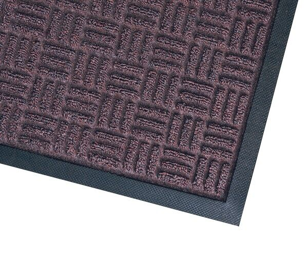 waterhog masterpiece mats 3 Floormat.com Interior scraper-wiper entrance mats for medium traffic areas <ul> <li>28 oz poyproplyene face and a rubber backing with 20% post-consumer recycled tire content</li> <li>Cleated backing (standard) for carpeted floors, optional smooth back for hard floor surfaces and Anchor Safe backing for maximum movement control for problem areas</li> <li>Construction provides a rubber reinforced bi-level surface for long-term service</li> </ul> <h2>Waterhog Masterpiece Select</h2> This entrance mat combines beauty with durability with a unique, parquet pile design. These mats still provide the superior moisture and dirt removal one expects from Waterhog mats. <ul> <li>Innovative parquet design is engineered to scrape dirt and water off feet from all traffic angles and look great doing it</li> <li>Construction provides a rubber reinforced bi-level surface for long-term service</li> <li>28 oz Polypropylene face and a rubber backing with 20% postconsumer recycled tire content</li> <li>Rubber water dam border to keep moisture and dirt from migrating off the mat</li> <li>Cleated backing (standard) for carpet floors or optional smooth back for hard floors</li> <li>Rubber border only (fashion border not available)</li> <li>Not recommended for use in areas exposed to grease or petroleum products</li> <li>Ideal choice for medium traffic placements</li> </ul>