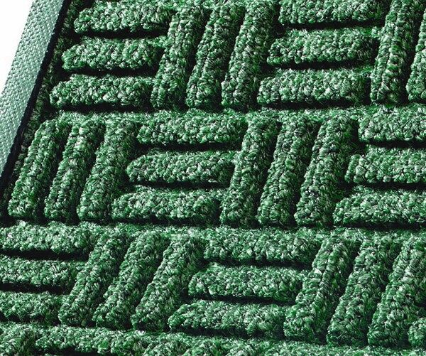 waterhog masterpiece mats 4 Floormat.com Interior scraper-wiper entrance mats for medium traffic areas <ul> <li>28 oz poyproplyene face and a rubber backing with 20% post-consumer recycled tire content</li> <li>Cleated backing (standard) for carpeted floors, optional smooth back for hard floor surfaces and Anchor Safe backing for maximum movement control for problem areas</li> <li>Construction provides a rubber reinforced bi-level surface for long-term service</li> </ul> <h2>Waterhog Masterpiece Select</h2> This entrance mat combines beauty with durability with a unique, parquet pile design. These mats still provide the superior moisture and dirt removal one expects from Waterhog mats. <ul> <li>Innovative parquet design is engineered to scrape dirt and water off feet from all traffic angles and look great doing it</li> <li>Construction provides a rubber reinforced bi-level surface for long-term service</li> <li>28 oz Polypropylene face and a rubber backing with 20% postconsumer recycled tire content</li> <li>Rubber water dam border to keep moisture and dirt from migrating off the mat</li> <li>Cleated backing (standard) for carpet floors or optional smooth back for hard floors</li> <li>Rubber border only (fashion border not available)</li> <li>Not recommended for use in areas exposed to grease or petroleum products</li> <li>Ideal choice for medium traffic placements</li> </ul>