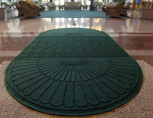"""wh grand premier choo choo Floormat.com Entrance Scraper-Wiper Indoor or Outdoor Matting <ul> <li>Earth friendly 30 oz. sq/yd 100% post consumer recycled PET fabric from plastic bottles</li> <li>3/8"""" thick bi-level surface effectively removes and stores dirt and moisture beneath shoe level</li> <li>Unique """"Water Dam"""" allows the Waterhog mat to hold up to 1 1/2 gallons of water per sq yard</li> </ul> <h2>Eco-friendly & Luxury Carpet Matting</h2> Made of 100% Post-Consumer Recycled PET Polyester reclaimed from plastic drink bottles, this attractive new mat combines years of WaterHog bi-level cleaning technology with the most unique design concept ever! Who said a mat has to look like a """"door mat?"""" Not anymore with these attractive diamond pattern mats! Great for Malls, Banks, Hotels Offices, Restaurants, Healthcare, Supermarkets, and more!<b>Andersen Waterhog Eco Grand Premier Benefits:</b> <ul> <li>Face fabric is heavy 30 oz./sq. yd. 100% Post-Consumer Recycled PET Polyester reclaimed from plastic drink bottles</li> <li>Eight Attractive Colors in Diamond Pattern</li> <li>New Fashion Borders</li> <li>Large Selection of Sizes</li> <li>Smooth or Special Tri-Grip Cleated Back to Minimize Movement; SBR Rubber with 15% post-consumer recycled tires</li> </ul> <img class=""""size-full wp-image-14977 alignleft"""" src=""""https://www.floormat.com/wp-content/uploads/eco-roll-colors.jpg"""" alt="""""""" width=""""430"""" height=""""62"""" /><b>Eco Grand Premier Color Options</b>Color Key: Black Smoke, Grey Ash, Southern Pine, Indigo, Khaki, Chestnut Brown, Maroon, Regal Red"""