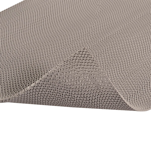 """z web 3 Floormat.com Provide slip-resistant footing in wet, barefoot traffic areas <ul> <li>Resistant to chemicals commonly found in locker rooms, around saunas, whirlpools, pools, and shower areas.</li> <li>The industrial grade PVC compound also provides greater resistance to caustic chemicals, oils, and greases.</li> <li>Resistant to fungus and mildew</li> <li>UV stable</li> <li>Built in fungicide to fight most common bacteria</li> <li>Free of: DOP, DMF, Silicone, Heavy metals, Ozone depleting substances</li> </ul> Web Trax Matting for wet areas is designed to help provide slip-resistant footing in barefoot traffic areas. All vinyl construction for durability and ease of care with a low profile.Web Trax Matting's resilient surface is comfortable for bare feet, providing slip resistant footing around locker rooms, saunas and showers. The vinyl is formulated for resistance to chlorinated water, body oils, fungus, soaps mildew and UV radiation. It also features a built in fungicide to fight the most common bacteria. The matting is also lightweight and easy to clean by either shaking dirt from the mat, or mopping it with a disinfectant cleaner and flushing with water. <h3>Open Z-web construction</h3> <ul> <li>Allows water to run through the matting</li> <li>Matting stays drier than surrounding area to help reduce the possibility of slips and falls</li> <li>Allows for quick, easy cleaning</li> <li>Lightweight</li> </ul> <em>Web Trax Colors</em></br> <img class=""""size-thumbnail wp-image-15084"""" src=""""https://www.floormat.com/wp-content/uploads/safety-walk-3200-colors-150x127.jpg"""" alt="""""""" width=""""150"""" height=""""127"""" /> <p> </p> <h3>Common applications</h3> <ul> <li>Locker rooms</li> <li>Around saunas</li> <li>Around whirlpools</li> <li>Around pools</li> <li>Shower areas</li> </ul> <h3>Special vinyl compound</h3> <ul> <li>Resistant to chemicals commonly found in locker rooms, around saunas, whirlpools, pools, and shower areas.</li> <li>Resistant to body oils</li> <li>Resistant t"""
