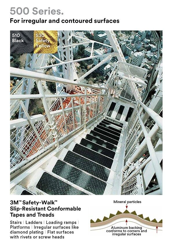 3m Safety Walk conformable Floormat.com Add anti-slip grit to irregular surfaces such as diamond plate