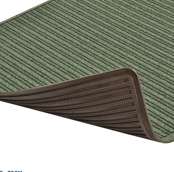 Barrier Rib Antimicrobial 2 Floormat.com Barrier Rib™ is a unique yet highly functional indoor entrance mat with a molded dual-ridge cross-rib pattern to maximize the scraping and drying process. A raised rubber perimeter on all four sides of the mat retains moisture and debris, and an antimicrobial carpet treatment stops bacteria and germs at the entrance. An extremely durable rubber backed mat, Barrier Rib® has a highly fashionable look that features carpet-to-the-edge to blend with its surroundings and contemporary color choices to match any décor. <ul> <li>Molded dual-ridge cross-rib pattern (A NoTrax® exclusive) facilitates scraping and drying</li> <li>Aqua Dam™ border retains moisture and debris</li> <li>Carpet-to-the-edge construction to blend with its surroundings</li> <li>Anti-Microbial carpet treatment stops bacteria and germs at the entrance</li> <li>Rubber underside cleat design resists mat slippage</li> <li>Available in continuous lengths up to 60 feet</li> </ul>