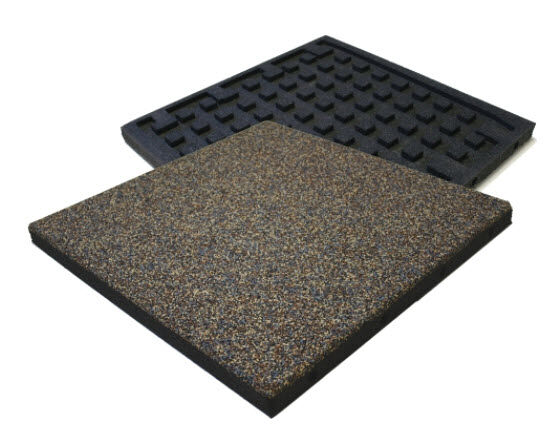 Combination Sport 2 Floormat.com Weight room flooring with waffle backing for sound reduction and impact absorption. Extremely durable and long lasting athletic flooring with easy to clean surface. <ul> <li>Dowel connection system allows for free floating installation</li> <li>No adhesive necessary. Best solution for sound reduction</li> <li>Recycled SBR, EPDM rubber with polyurethane bonder</li> </ul>
