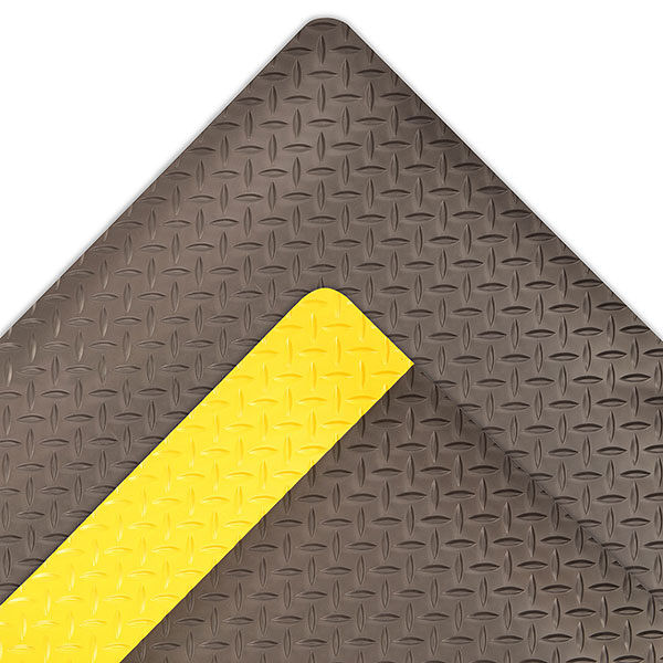 Dura Trax 1 Floormat.com Dura Trax™ is a high performance anti-fatigue floor mat representing the ultimate in comfort and durability for today's industrial environments. Dura Trax™ combines a rubber top surface with a dense sponge backing utilizing the exclusive UniFusion™ bonding process. The resulting finished product is virtually a single piece eliminating any possibility of de-lamination. The rubber top surface provides a noticeably softer and more comfortable work surface and a diamond-plate design offers greater slip resistance and is easy to sweep or mop clean. <ul> <li>Nitrile rubber blend top surface for added comfort,durability, and chemical resistance</li> <li>Diamond-plate surface texture provides added traction</li> <li>Made from 100% recycled materials</li> <li>UniFusion™ bond guaranteed for the life of the mat </li> <li>Custom lengths available (2',3', and 4' widths)</li> </ul>