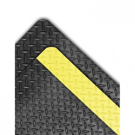 Dura Trax 3 Floormat.com Dura Trax™ is a high performance anti-fatigue floor mat representing the ultimate in comfort and durability for today's industrial environments. Dura Trax™ combines a rubber top surface with a dense sponge backing utilizing the exclusive UniFusion™ bonding process. The resulting finished product is virtually a single piece eliminating any possibility of de-lamination. The rubber top surface provides a noticeably softer and more comfortable work surface and a diamond-plate design offers greater slip resistance and is easy to sweep or mop clean. <ul> <li>Nitrile rubber blend top surface for added comfort,durability, and chemical resistance</li> <li>Diamond-plate surface texture provides added traction</li> <li>Made from 100% recycled materials</li> <li>UniFusion™ bond guaranteed for the life of the mat </li> <li>Custom lengths available (2',3', and 4' widths)</li> </ul>
