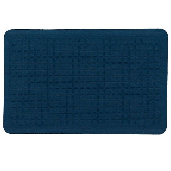 """Get Fit Stand Up 4 Floormat.com These Get Fit Stand Up Anti-fatigue Mats are ideal for standing desks and other standing work areas. The anti-fatigue indoor mats are designed to provide workers a comfortable surface to stand on for hours and hours. Standing at your desk can burn up to 40% more calories while reducing neck & back pain. Do it for your health Get Fit with these Stand Up Anti-fatigue Mats. <ul> <li>100% solution-dyed polypropylene top surface will not fade</li> <li>5/8"""" thick closed cell Nitrile blended cushion</li> <li>Beveled borders will not crack and curl</li> <li>Made in the USA</li> </ul>"""