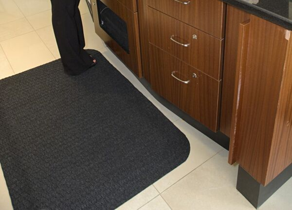 Hog Heaven Fashion 1 Floormat.com Ideal uses include concierge desk, bellman stands, copier station, registration desk, pharmacies and labs. <ul> <li>Ideal uses include concierge desk, bellman stands, copier station, registration desk, pharmacies and labs</li> <li>Closed-cell Nitrile rubber cushion backing keeps standing workers comfortable all day long</li> <li>Beveled border remains flexible for the life of the product and will not crack or curl</li> </ul>