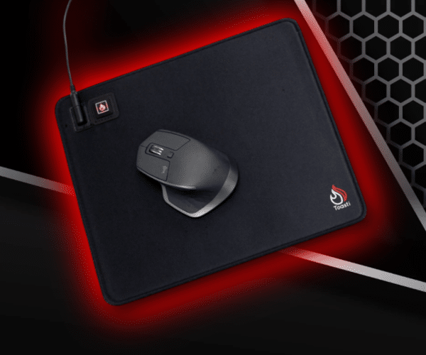 Toasti Mouse 1 Floormat.com You have been in the game for a while now, and you adrenaline is surging, but your fingers are stiffening because the room is cold ... click rate starts to drop ... precision is off ... and your avatar is ... dead. Don't let this scenario happen to you! Introducing the Toasti Heated Mouse Pa, a revolutionary product in the gaming industry. Tested by NCAA Division I Esports teams, the Toasti heated Mouse Pad is a must have for competitive games. Perfect for any office or call center setting. <ul> <li>3 Heat Levels</li> <li>Non-slip textured backing</li> <li>Fine-stitch, soft, anti-fray fabric</li> <li>Colored LED</li> <li>Comes with power supply and 8 foot cord</li> </ul>