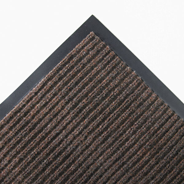 """c needle rib 3 Floormat.com Wiper/scraper ribbed-pattern mats for light traffic <ul> <li>Unilateral ribbed pattern on vinyl backing that traps moisture and protects floors</li> <li>Quick drying and fade resistant</li> <li>Retains moisture for increased cleaning efficiency</li> <li>For interior areas with light traffic e.g. Small business, Boutique and Side entrance</li> </ul> <h2>Needle-Rib™ Indoor Entrance Mats</h2> These economical, ribbed-pattern wiper/scraper carpet mats are recommended for interior entrances with light traffic of less than 125 people per day, such as small businesses, boutiques, and side entrances. <strong>Benefits:</strong> <ul> <li>Rugged grooves work vigorously to remove dirt and moisture</li> <li>Wear-resistant and colorfast to stay looking new longer</li> <li>Six brilliant colors to choose from</li> <li>Thickness: 5/16""""</li> <li>Backing: vinyl</li> <li>Top fibers: polypropylene</li> </ul>"""
