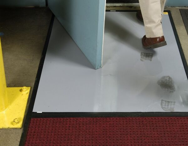 clean stride dirt 2 Floormat.com Clean Stride mats provide highly effective dirt and dust removal methods for factories, computer rooms, warehouses, school gymnasiums, health care facilities and more. <ul> <li>Clean Stride mats provide highly effective dirt and dust removal methods for factories, computer rooms, warehouses, school gymnasiums, health care facilities and more</li> <li>As foot traffic passes over the mat, the Waterhog surface scrapes larger particles while the adhesive insert captures smaller dust & dirt.  With two footsteps on Clean Stride adhesive insert, over 90% of dirt particles are removed.</li> <li>Not recommended for wet areas</li> </ul>