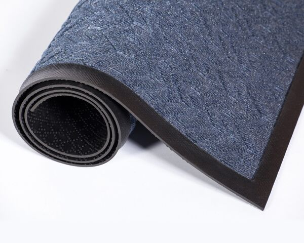 ecoPlus rubber border 1 Floormat.com EcoPlus™ is our green generation recycled wiper/scraper mat that delivers excellent performance in heavy traffic areas. Offers a green mat alternative that can contribute to obtaining LEED credits. As a performance wiper/scraper mat, this product prevents debris from traveling into the building. A nubbacking design helps provide stability to the mat and eliminates curling. <ul> <li>Available in both fabric and rubber edging</li> <li>Crush-proof V-pattern will maintain appearance and performance</li> <li>Elevated construction will scrape shoes and hold dirt beneath shoe level, while wiping moisture</li> <li>Special sizes are available in all even foot increments in 3′, 4′, and 6′ widths, up to 20′ in length. Mats are manufactured to a tolerance of up to 3 percent, compared to the exact size listed.</li> </ul> For interior areas with heavy traffic areas. e.g.: Universities, Airports, Hospitals, Large Retail Stores, Shopping Malls and Schools.