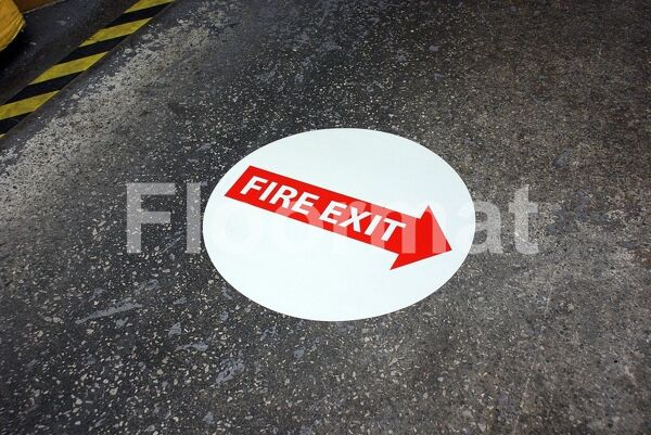 fm05 fire exit glow in the dark sign1 Floormat.com Floormat.com warehouse signs are durable, self-adhesive signs constructed from industrial grade plastic. Intended for use in factory warehouses and buildings where restrictions and safety notifications need to be highlighted.