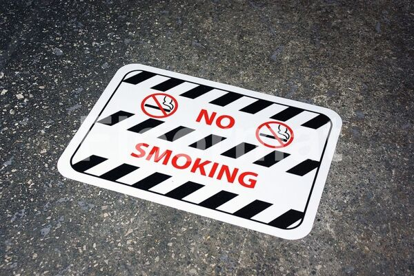 fm10 no smoking sign Floormat.com Floormat.com warehouse signs are durable, self-adhesive signs constructed from industrial grade plastic. Intended for use in factory warehouses and buildings where restrictions and safety notifications need to be highlighted.
